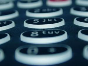 teclado de teléfono móvil