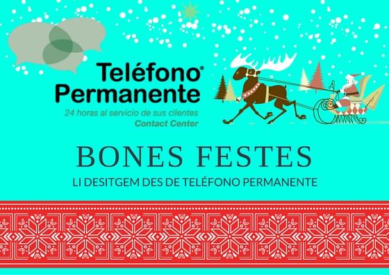 Felicitación de Navidad de Teléfono Permanente