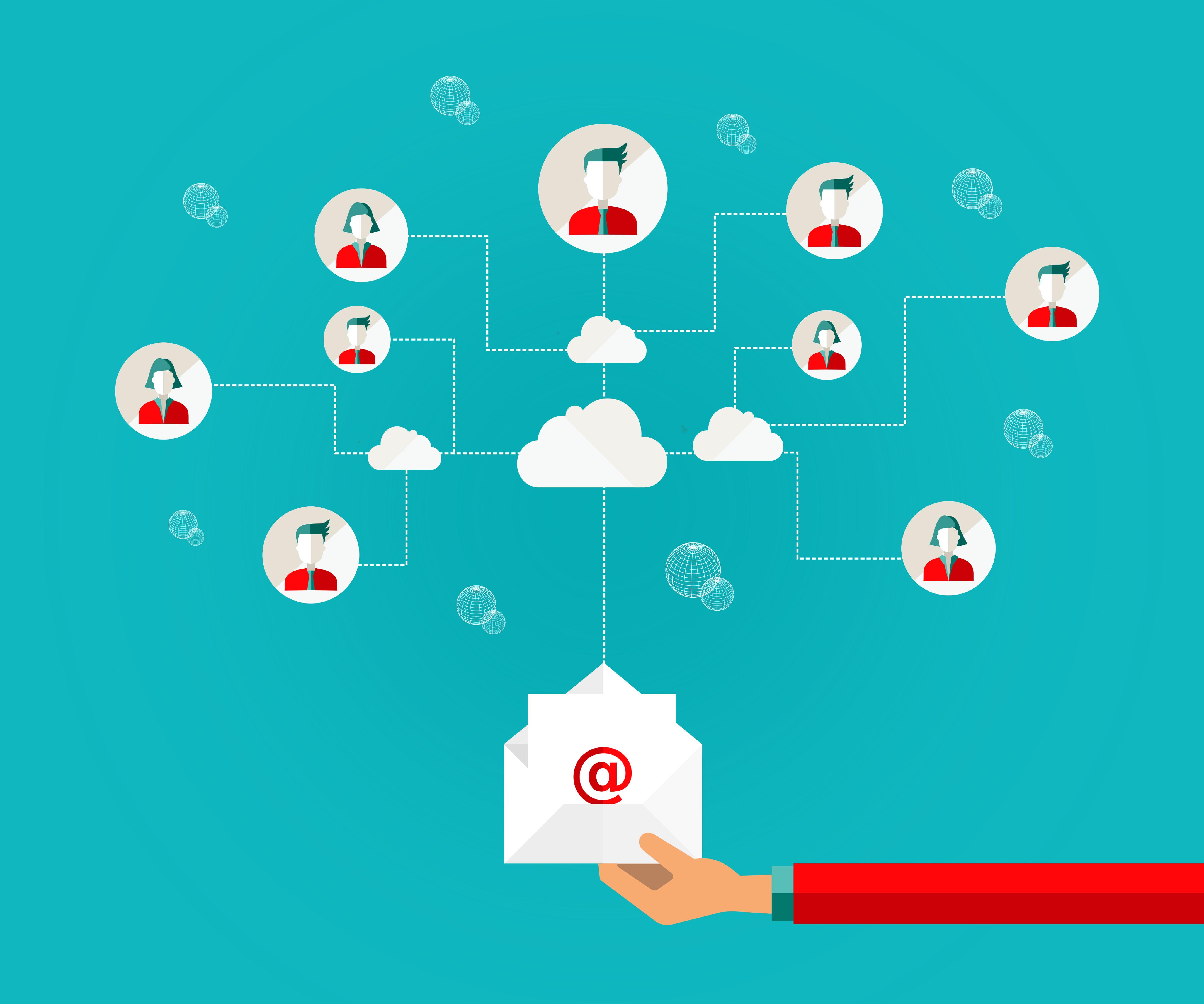 iconos de email marketing