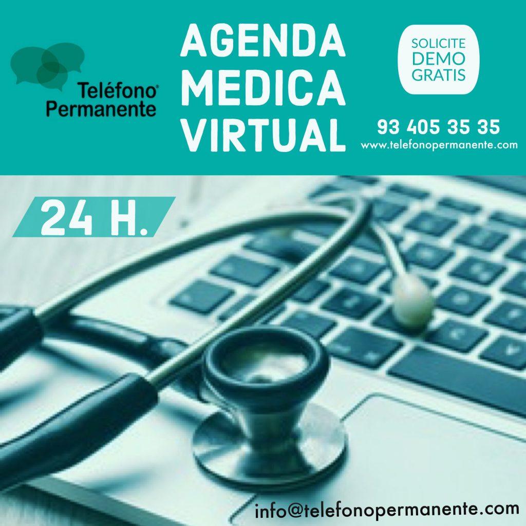 Servicio agenda medica on line 24h. Telefono Permanente
