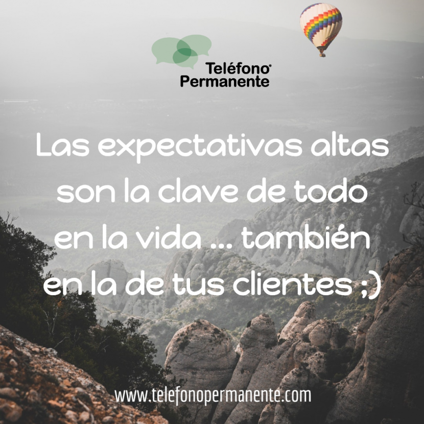 post altas expectativas de los clientes en instagram de contact center telefono permanente
